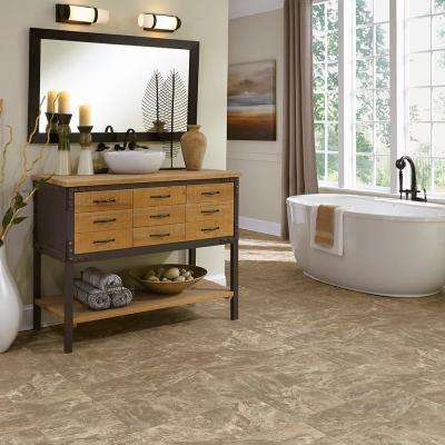Stratamax Value Plus 12 ft. Width x Custom Length Earthly Strike Residential Vinyl Sheet Flooring