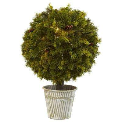 23 in. Pine Ball in Iron Top