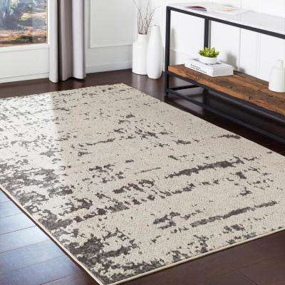 Lucillia Grey 2 ft. x 3 ft. Distressed Area Rug
