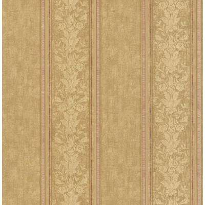 56 sq. ft. Toile Stripe Wallpaper