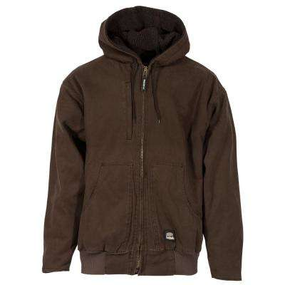 Men's 100% Cotton Flex 180 Washed Hooded Jacket