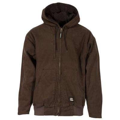 Men's 100% Cotton Flex 180 Washed Hooded Jacket