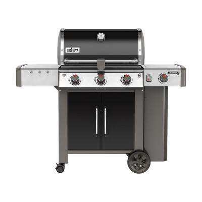 Genesis II LX E-340 3-Burner Propane Gas Grill in Black with Built-In Thermometer and Grill Light