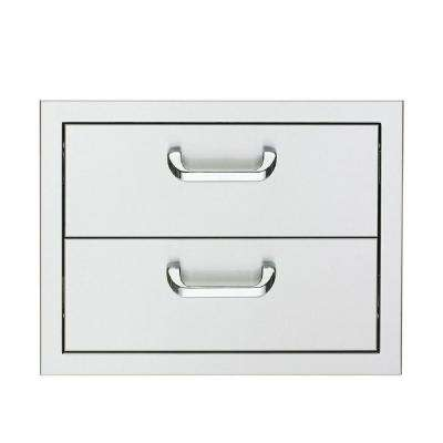 17 in. Enclosed Double Drawers