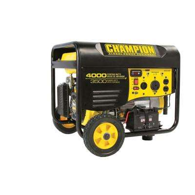 3,500-Watt/4,000-Watt Remote Electric Start Gasoline Powered RV Ready Portable Generator