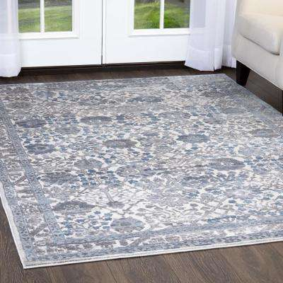 Kenmare Gray/Blue 9 ft. x 12 ft. Indoor Area Rug