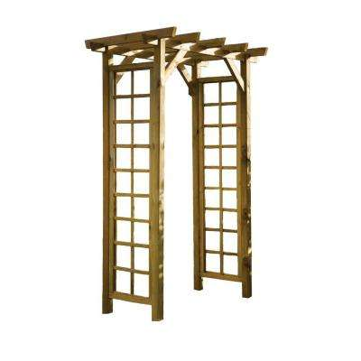 English Garden 59 in. x 88 in. Wood Square Top Arbor