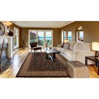 Persian Classic Kashan Black Rectangle Indoor 10 ft. 11 in. x 15 ft. Area Rug