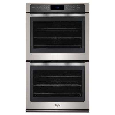 30 in. Double Electric Wall Oven Self-Cleaning with Convection in Stainless Steel