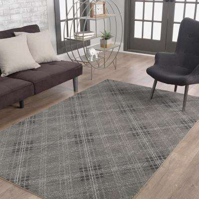 Russell Plaid Gray 8 ft. x 10 ft. Area Rug