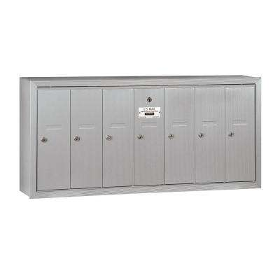 3500 Series Aluminum Surface-Mounted Private Vertical Mailbox with 7 Door