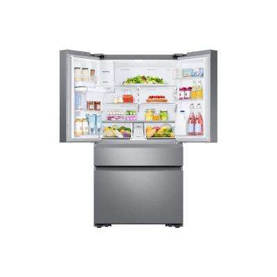 22.2 cu. Ft. Family Hub 4-Door French Door Recessed Handle Smart Refrigerator in Stainless Steel, Counter Depth