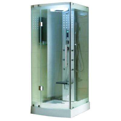 36 in. x 36 in. x 85 in. Steam Shower Enclosure Kit in White