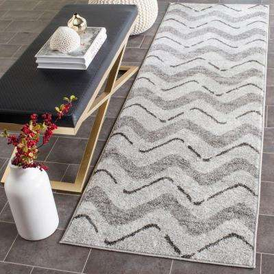 Adirondack Silver/Charcoal 3 ft. x 12 ft. Runner Rug