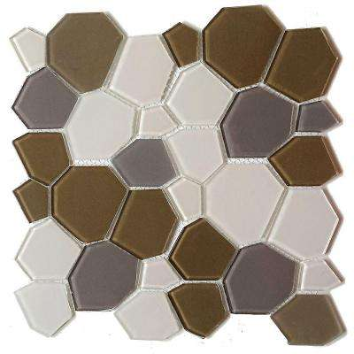 Upscale Designs Mesh-Mounted Glass Wall Tile - 3 in. x 6 in. Tile Sample