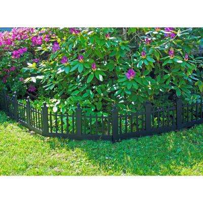12 in. Resin Colonial Garden Fence (10-Pack)