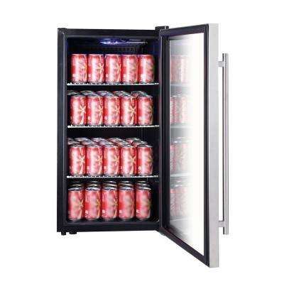 3.1 cu. ft. 87 (12 oz.) Can Beverage Cooler in Stainless Steel