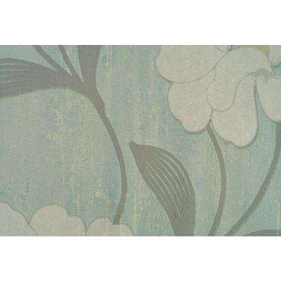 56 sq. ft. Light Beige Accent Tropical Floral Print Wallpaper