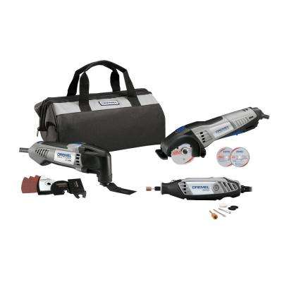 Ultimate Corded Combo Kit with 15 Accessories and a Carrying Bag (3-Tool)
