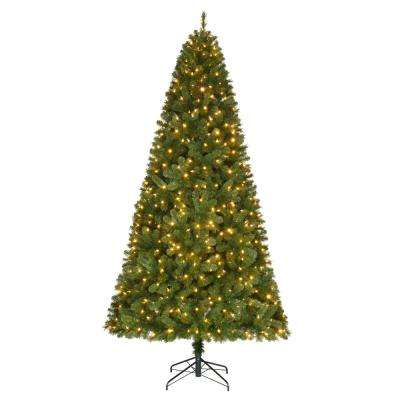 9 ft. Pre-Lit LED Wesley Spruce Artificial Christmas Tree with 650 Color Changing Lights