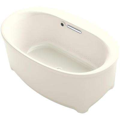 Underscore 5 ft. Air Bath Tub in Biscuit