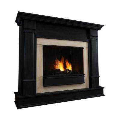 Silverton 48 in. Gel Fuel Fireplace in Black