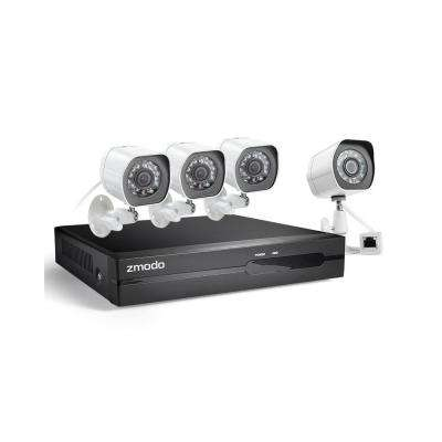 4-Channel 1080p Full HD sPoE NVR Security System with 1TB HDD