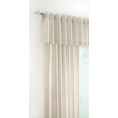 15 in. L Monaco Lined Polyester Valance in Ivory