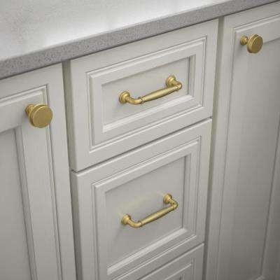 Classic Elegance 3-3/4 in. (96mm) Center-to-Center Brushed Brass Drawer Pull