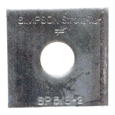 2 in. x 2 in. Bearing Plate with 5/8 in. Dia Bolt