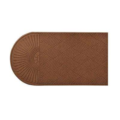 Guzzler Sunburst Brown 34 in. x 72 in. Rubber-Backed Door Mat