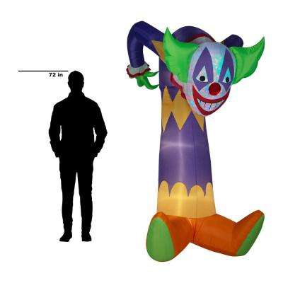 7.51 ft. Pre-Lit Inflatable Projection Kaleidoscope-Clown (RGB) Airblown