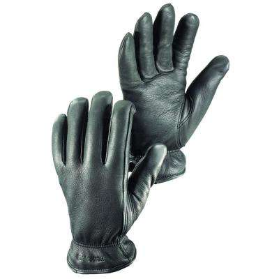 Drivers Winter Cold Weather Durable Soft Deerskin Leather Gloves in Black
