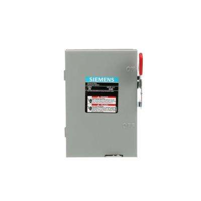 General Duty 30 Amp Single Pole Non-Fusible Indoor Safety Switch