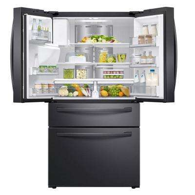 22.2 cu. ft. Family Hub 4-Door French Door Smart Refrigerator in Fingerprint Resistant Black Stainless, Counter Depth