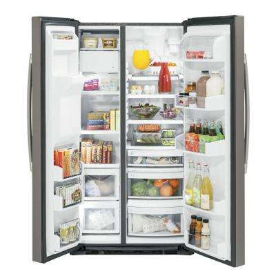 21.9 cu. ft. Side by Side Refrigerator in Slate, Counter Depth