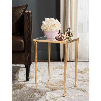 Nyacko Antique Gold Leaf End Table