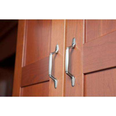 Decorative 3 in. (76mm) Center-to-Center Satin Nickel Spoon Foot Drawer Pull (10-Pack)