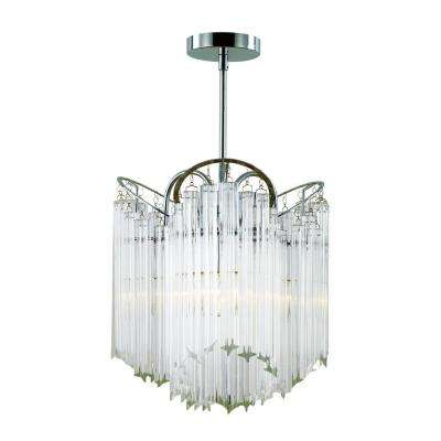 3-Light Crystal Icicle Hanging Chandelier