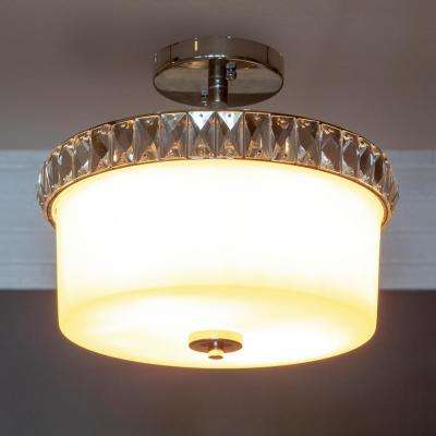 Cora 2-Light Chrome Semi-Flush Mount Light