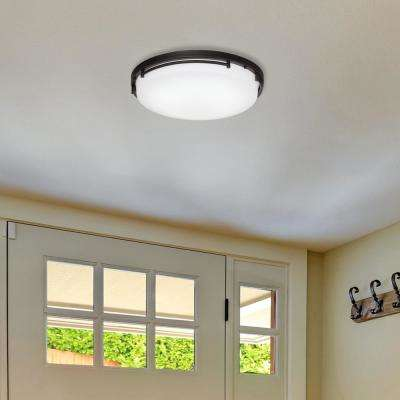 18 in. Rail Oil-Rubbed Bronze Integrated LED Flush Mount