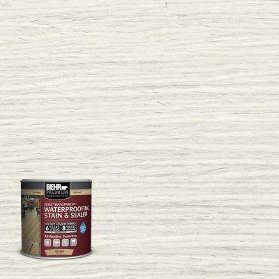8 oz. #ST337 Pinto White Semi-Transparent Waterproofing Stain and Sealer Sample