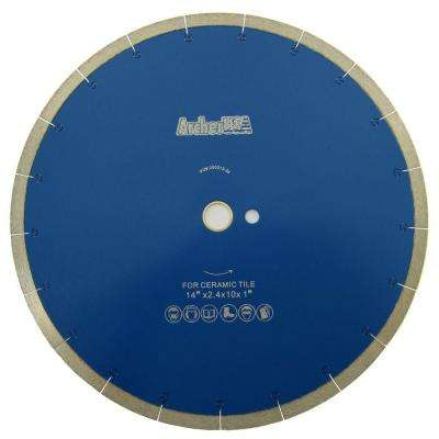 14 in. Continuous Rim Diamond Blade with J-Slot for Tile Cutting