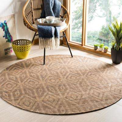Cape Cod Camel 6 ft. x 6 ft. Round Area Rug