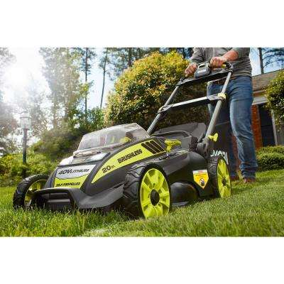 20 in. 40-Volt Brushless Lithium-Ion Cordless Self-Propelled Walk Behind Mower with 5.0 Ah Battery/Charger Included