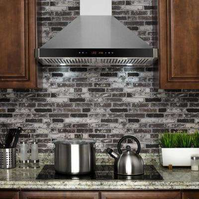 30 in. Convertible Wall Mount Range Hood in Stainless Steel with Touch Controls