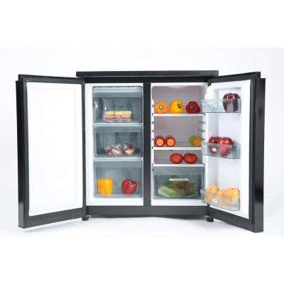 31 in. W 5.5 cu. ft. Side by Side Mini Refrigerator in Black