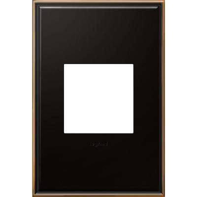 1 Gang 2 Module Wall Plate - Oil Rubbed Bronze with Beaded Border