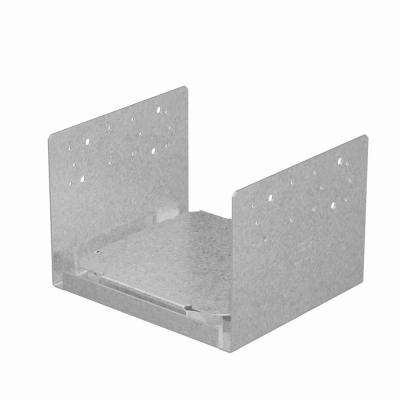 ZMAX 10 in. x 10 in. 12-Gauge Galvanized Rough Adjustable Post Base