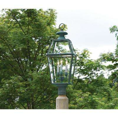 Plug-In Incandescent Verde Brass Old Colony Lantern